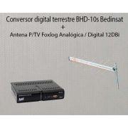Conversor Digital + Antena P/tv Foxlog Analógica / Digital
