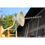 Kit Antena Cúbica 3g 1800/2100mhz C/ Suporte Articulado