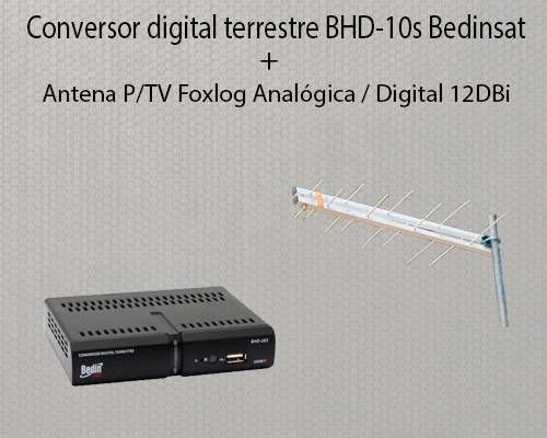 Conversor Digital + Antena P/tv Foxlog Analógica / Digital