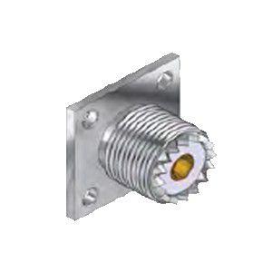 Conector Uhf Fêmea Com Base Quadrada