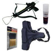 Kit Balestra Duck 80 lbs + Capa SPL-BP + Cera VX + 12 Setas Al8050