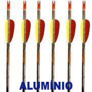 Flecha Alumínio Vixion 30'' AAL-30AC Série Especial Camuflada tubo 8mm (kit 6 pçs) Ponta Rosca