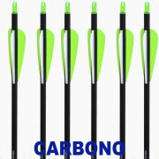 "Flecha Carbono Vixion 30"" VX-78HSMC  2G1W Spine 600 - 8mm / 32g (Kit 6 Pçs) Ponta Rosca"