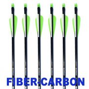 "Flecha FiberUltra Vixion 30"" Drone  composta de Fiberglass + Carbono 8mm (kit 6 pçs) Ponta Rosca"