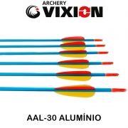 Flecha Vixion 30'' Alumínio AAL-30 Série Especial Blue tubo 8mm (kit 6 pçs) Ponta Rosca