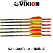 Flecha Vixion 30'' Alumínio AAL-30AC Série Especial Camuflada tubo 8mm (kit 6 pçs) Ponta Rosca