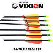 Flecha Vixion 28'' Fiberglass FA-28 especial Black 6.9mm (kit 6 pçs) Ponta Fixa