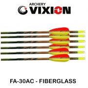 Flecha Vixion 30'' Fiberglass FA-30AC Especial Camuflada 6.9mm (kit 6 Pçs) Ponta Fixa