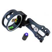 Mira Vixion fibra óptica 5 pinos BS1550 Carbono com Nível e Luz Negra