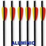 "Setas Alumínio Vixion 14"" S-14 8mm Para balestras 120 a 200 lbs (kit 6 pçs) Ponta Rosca"