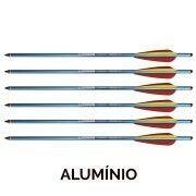 Setas Vixion 17'' Alumínio Rocket 8mm para balestras 120 a 180 lbs (kit 6 pçs) Ponta Rosca
