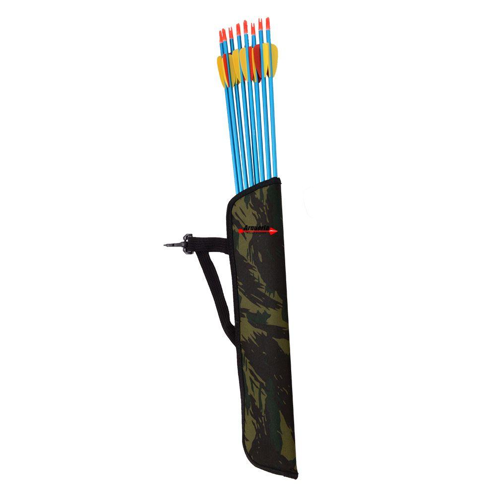 Aljava de cintura Vixion AS-C camuflada para arco ou balestra