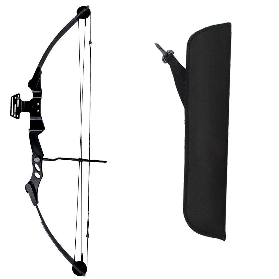 Kit Arco e Flecha Bobcat 55 BK + Aljava AS-P Cinta + Protetor ABS + 6 flechas Fa28