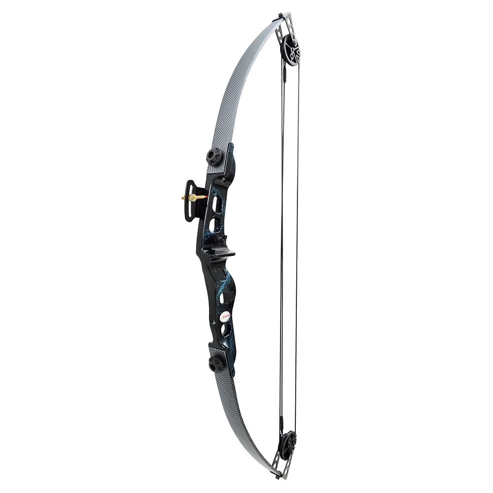 KIT Arco E Flecha Catfish 35 Lbs + Aljava + 3 Flechas madeira + Protetor braço