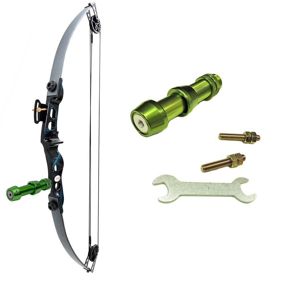 Arco e flecha Catfish Vixion Composto 25-35 LBS Carbon + Suporte RST-G pesca