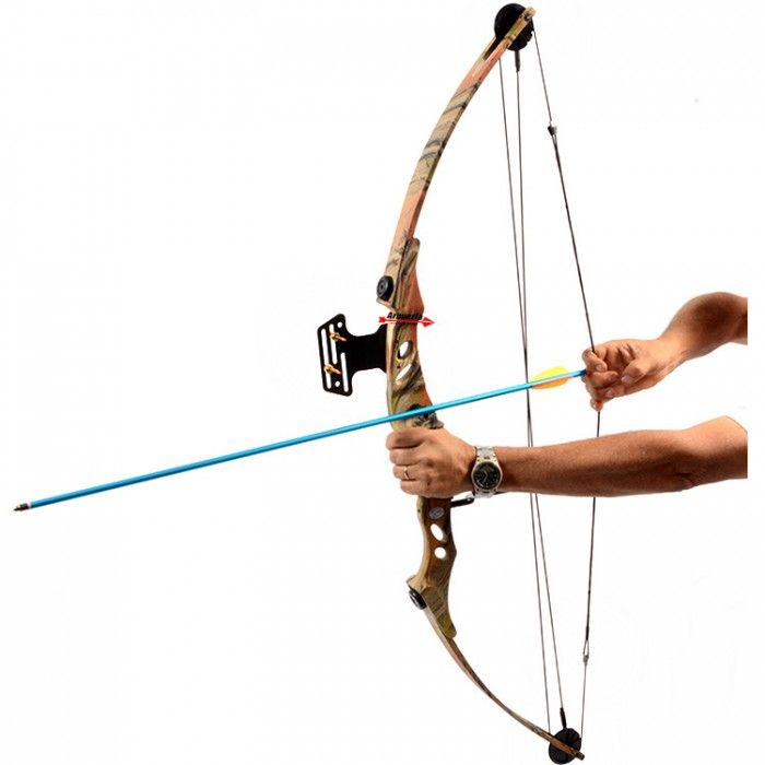 Arco e flecha Bobcat MK-CB55AC Vixion Composto Profissional Camuflado