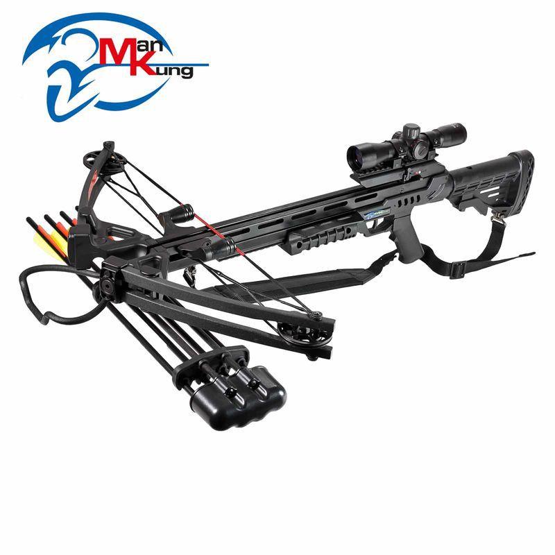 Balestra Composta Profissional Stalker XB52 (185 lbs) Black + Luneta 4x32 Lumina MK-XB52-BK