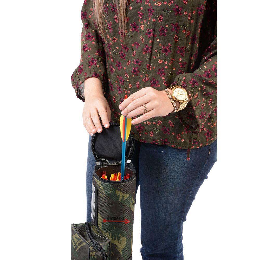 Estojo Vixion TGC camuflado porta acessórios com bolsa e alça