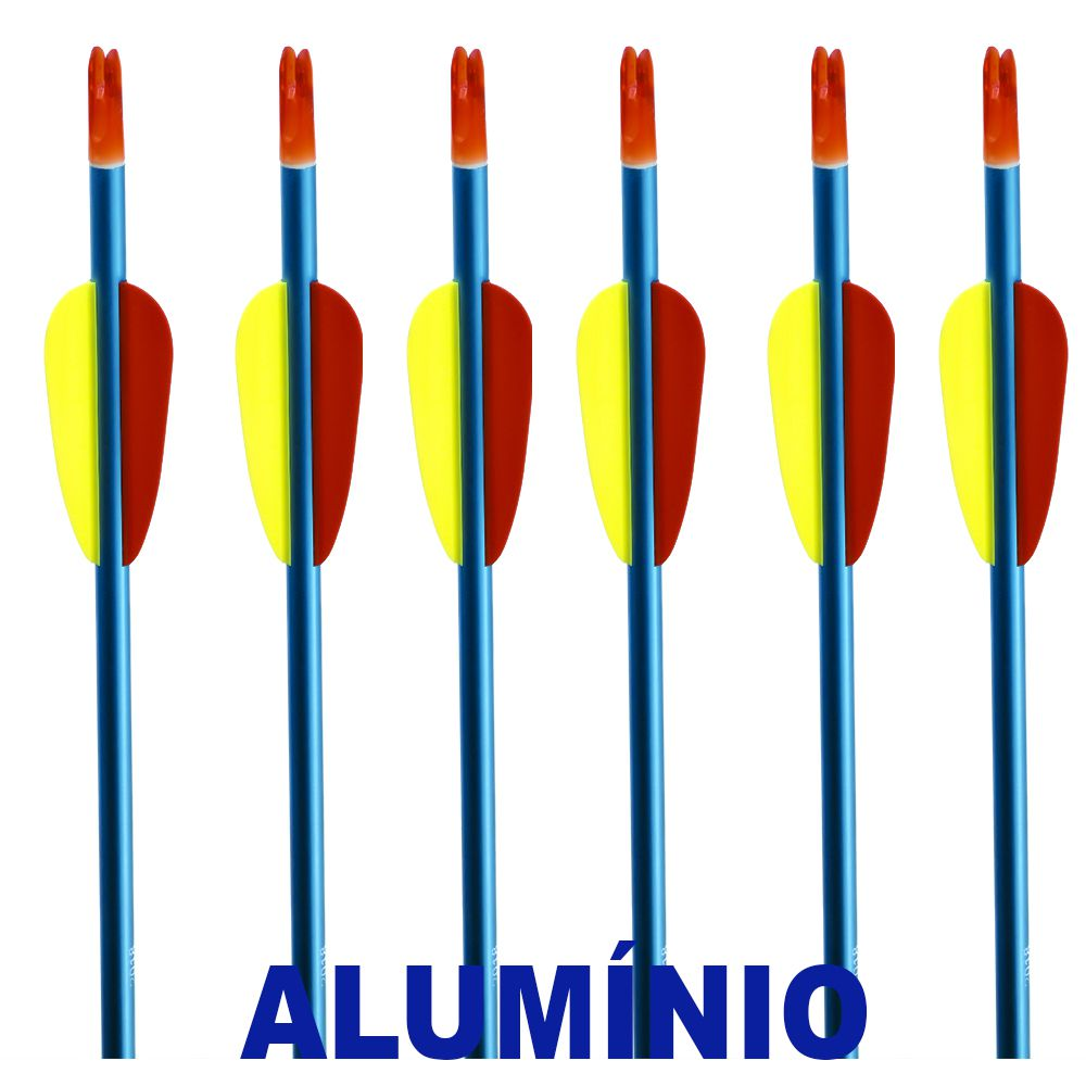 Flecha Alumínio Vixion 30'' AAL-30 Série Especial Blue tubo 8mm (kit 6 pçs) Ponta Rosca
