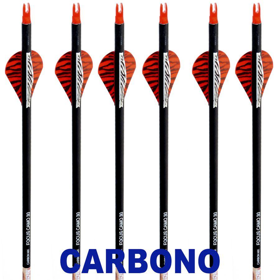 Flecha Carbono Vixion 30'' Focus Camo 30 7.8mm (kit 6 pçs) Ponta Rosca