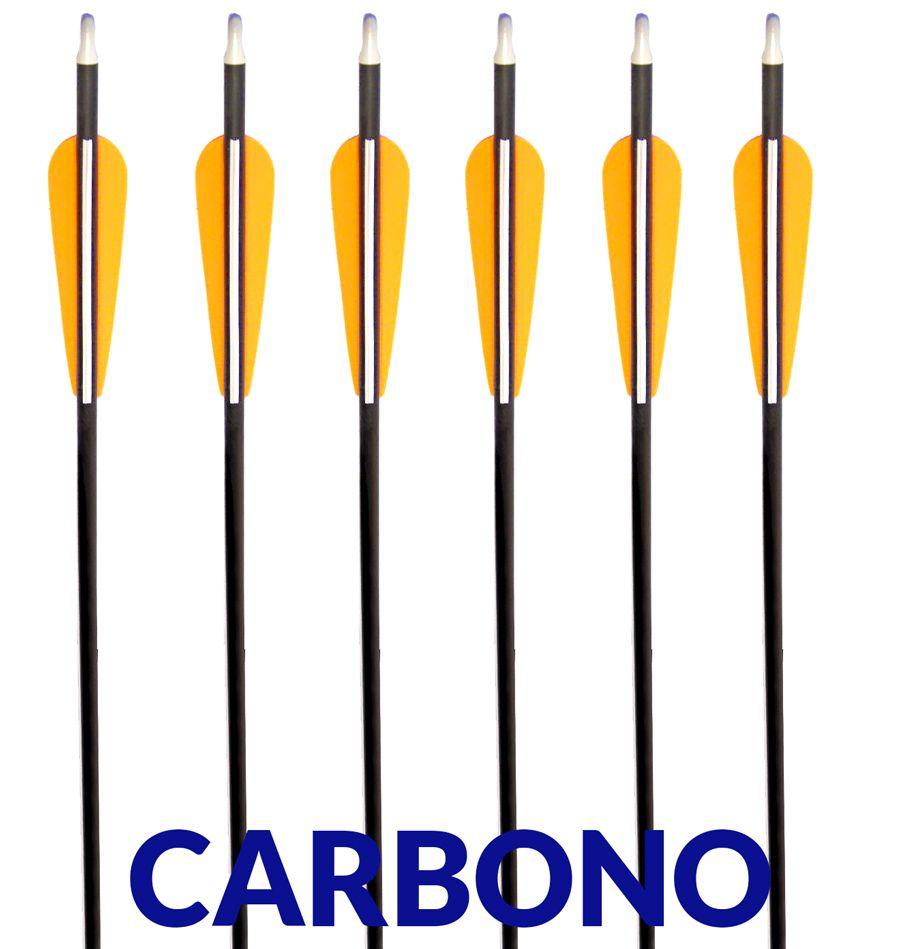 Flecha Carbono Vixion 30'' Especial Preta CA-30 Tubo Fino 7mm (kit 3 pçs) Ponta Rosca