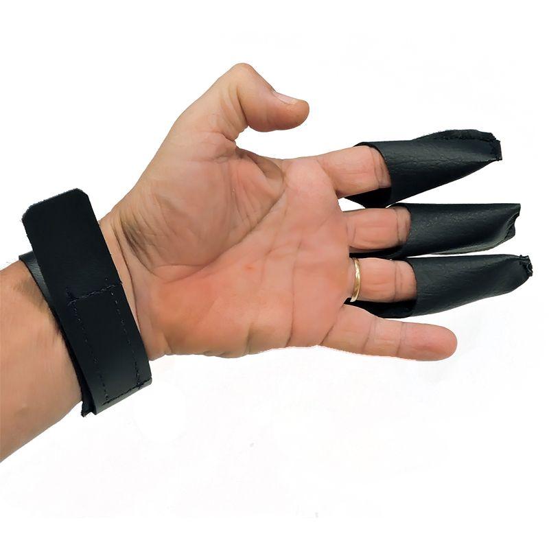 Luva Vixion preta protetora 3 dedos L-3D