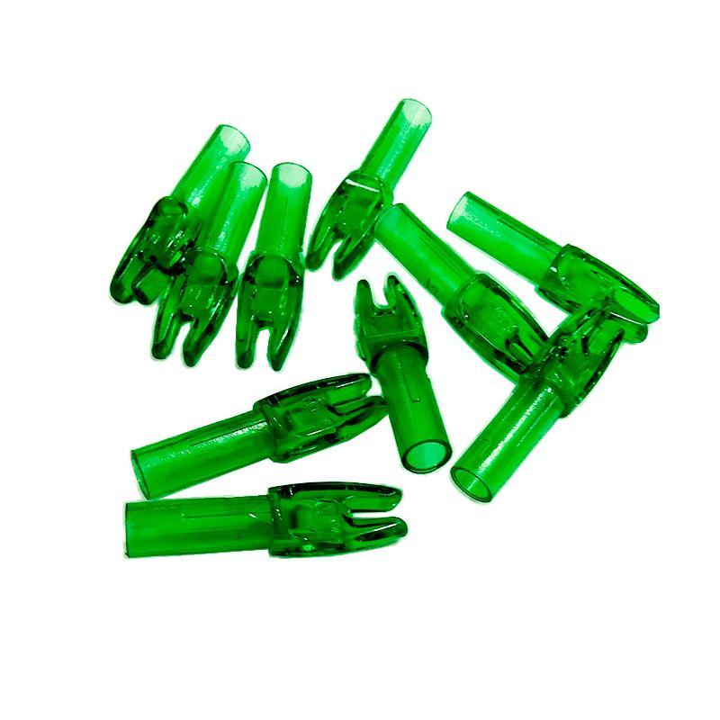 Nock Vixion 6.2mm verde VX-801 acrilico (kit 10 pçs)