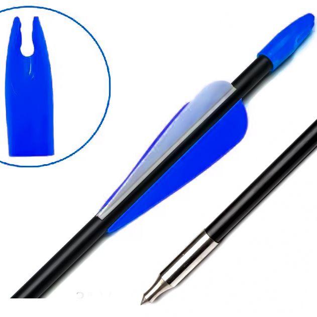Nock Vixion 7.0mm azul VX-701 acrilico (kit 10 pçs)