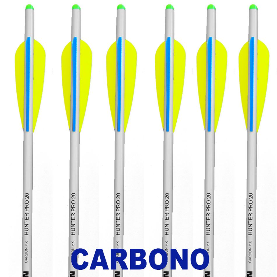 Setas Carbono Vixion 20'' Hunter Pro 8mm Para Balestras de 120 a 200 lbs (Kit 6 pcs) Ponta Rosca