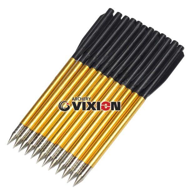 "Setas Vixion 6.5"" Alumínio 3.5mm para balestras 50 a 80 lbs (kit 12 pçs) Ponta Metal"