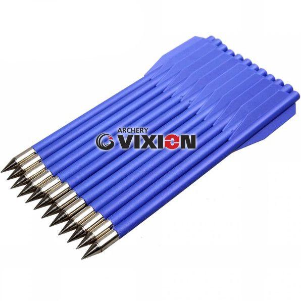 """Setas Vixion 6.5"""" Nylon Blue 3.5mm para balestras 50 a 80 lbs (kit 12 pçs) Ponta Fixa"""