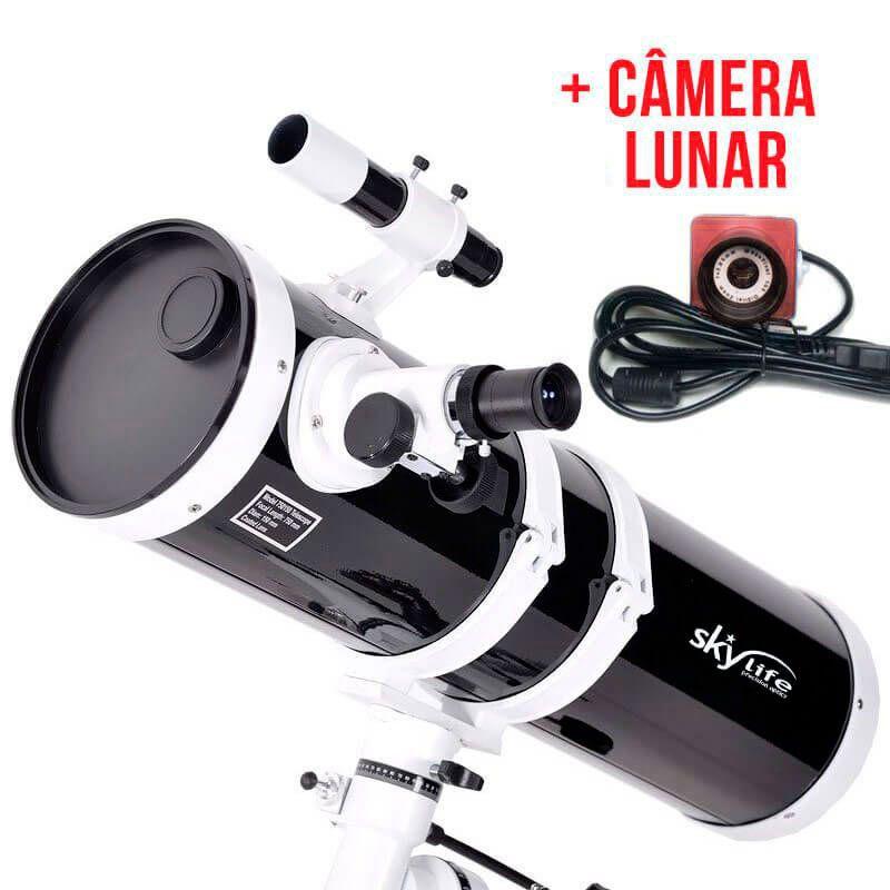 Telescópio 152mm (6 pol.) Refletor Newtoniano Skylife Antares 6 Black Diamond + Câmera Lunar (Super Oferta)