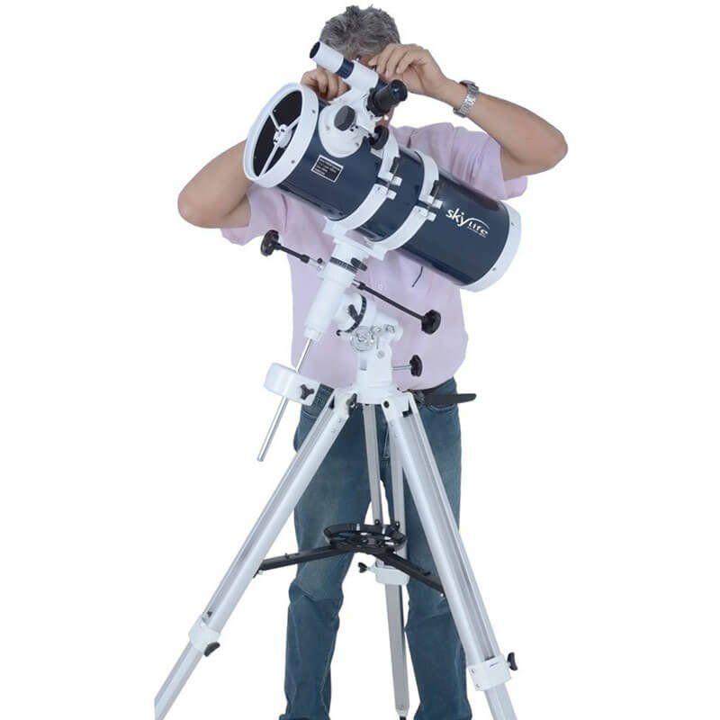 Telescópio 152mm (6 pol.) Refletor Newtoniano Skylife Pandora 6 Blue Diamond + Câmera Lunar