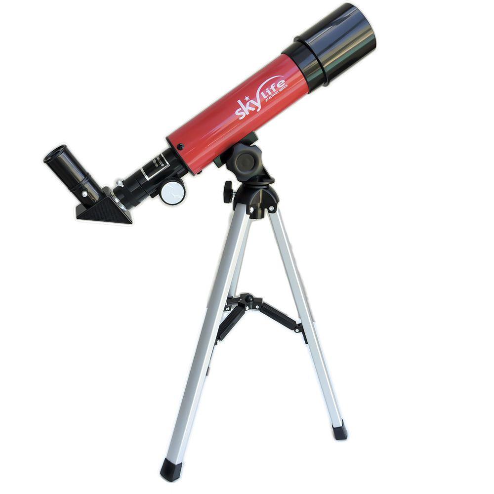 Telescópio 50mm Skylife Novice 60X - Hi-Power Vermelho