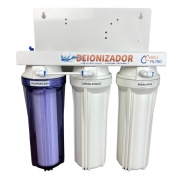 Filtro Deionizador 3  Estágios com suporte alto