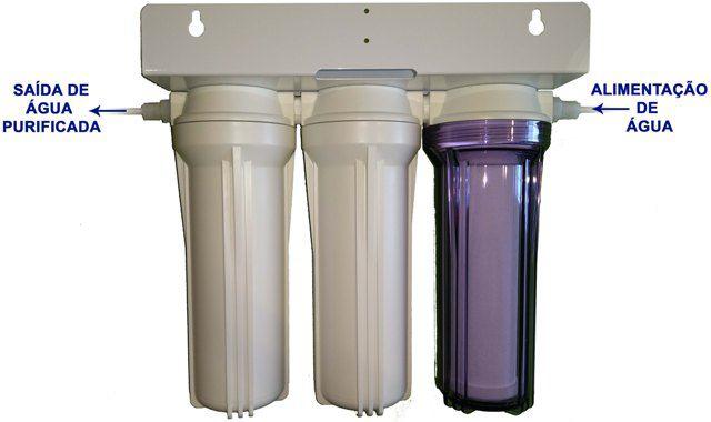 Filtro Deionizador 3  Estágios