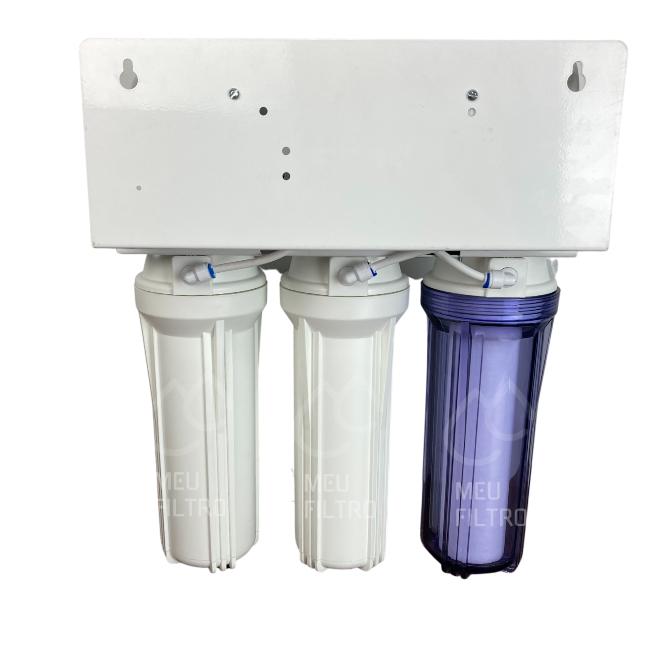 Filtro Deionizador com Osmose Reversa - 4 etapas/75GPD - Com bomba e TDS in line