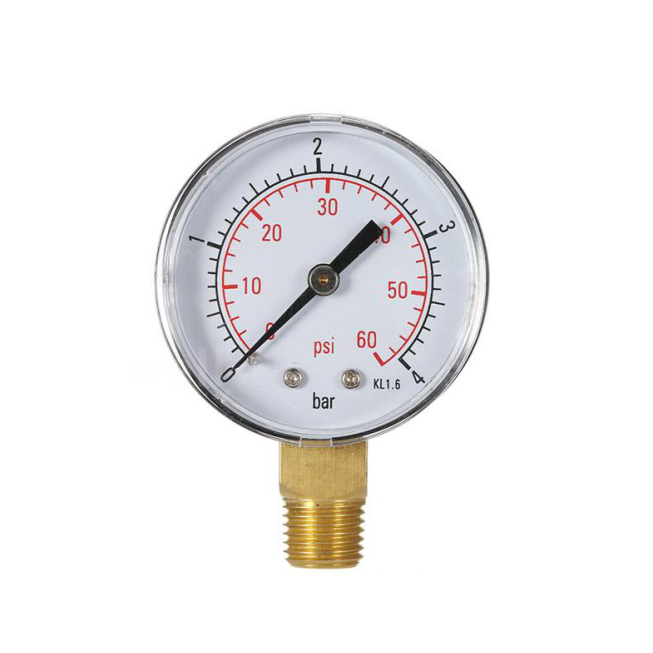 Manômetro De 0 - 60 PSI Conexão Inferior