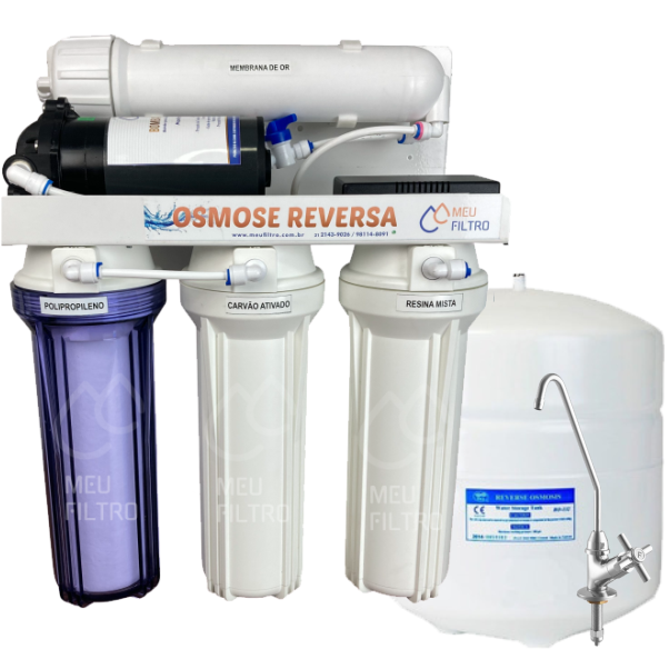 Osmose Reversa 15l/h - Automática com Reservatório