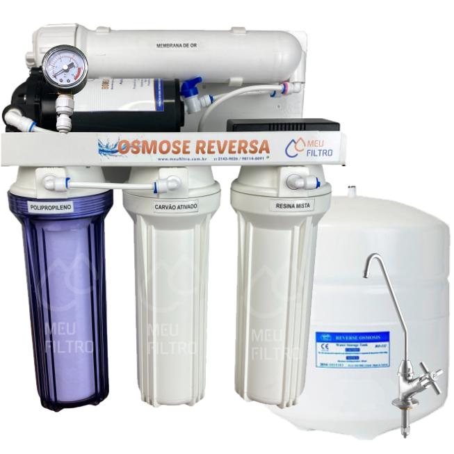Osmose Reversa 15l/h - Automática com Reservatório e manômetro