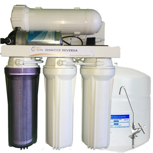 Osmose Reversa 30l/h - Automática com Reservatório