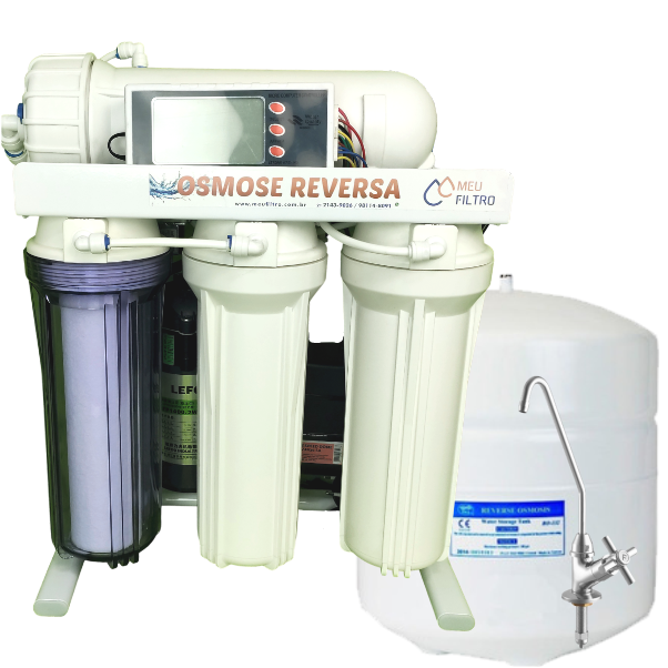 Osmose Reversa 30l/h - Automática com Reservatório e Controlador
