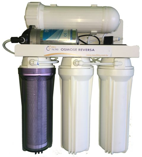 Osmose Reversa - 4 etapas/200GPD - Com bomba