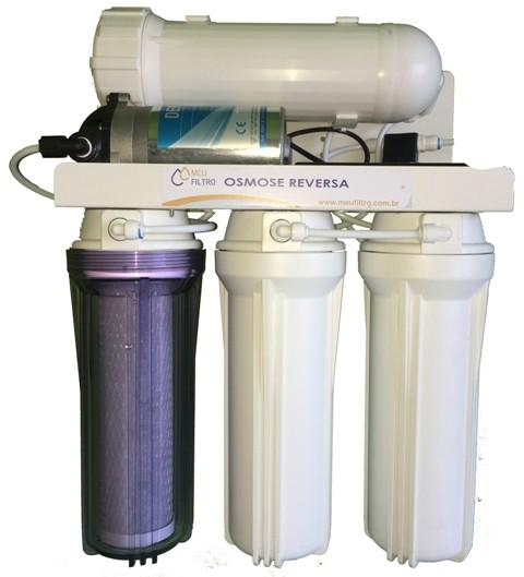 Osmose Reversa - 4 etapas/300GPD - Com bomba