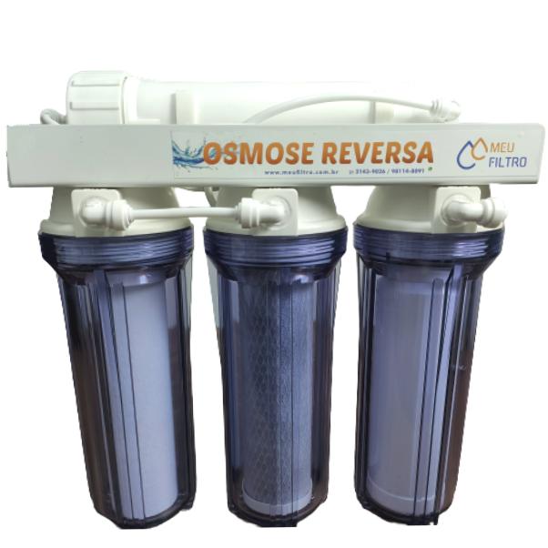 Osmose Reversa - 4 etapas/75GPD - Transparente