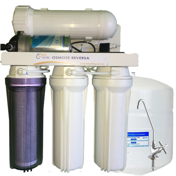 Osmose Reversa 60l/h - Automática com Reservatório