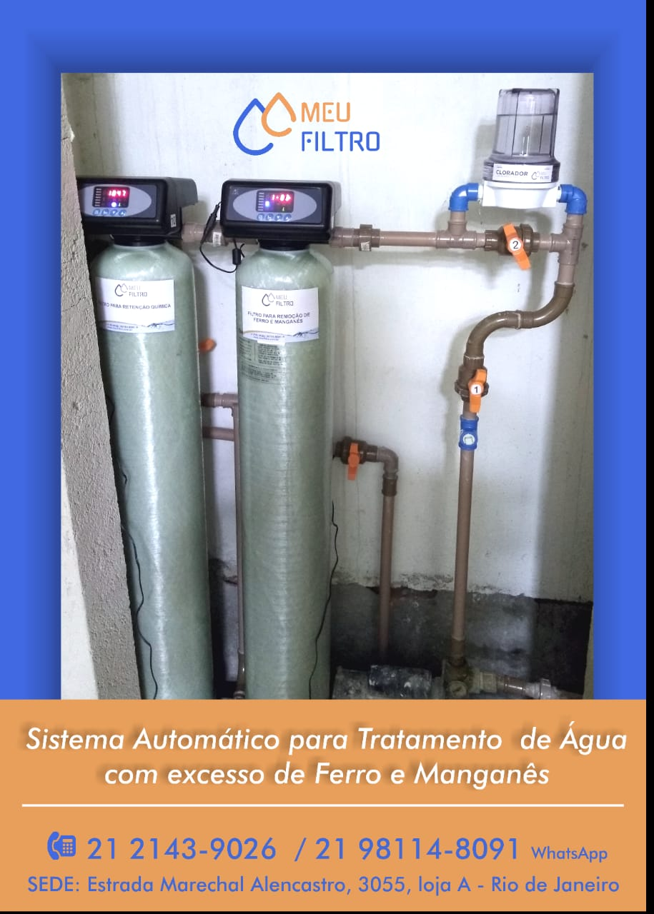 Plataforma de tratamento de água até 1m³/h ( Sistema automático) - SÓ INSTALAR