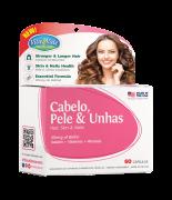 Cabelo, Pele e Unhas (Hair, Skin & Nails) VitaVale com 60 Cápsulas
