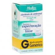 Cloridrato de Ambroxol 15/5mg Xarope uso pediátrico Generico Medley com 120ml