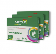 Kit Lavitan Mais Hair com 180 Cápsulas